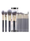 Профессиональный набор кистей для макияжа в тубусе (15 шт.)