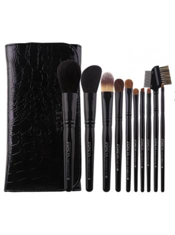 Набор  натуральных кистей для макияжа 10 шт.