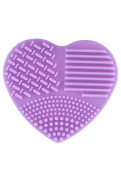 Силиконовая щетка в форме сердца для чистки косметических кистей